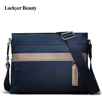 LUCKYER BEAUTY High Quality Men Crossbody Bags Casual Zipper School Nylon Messenger Bags Male Travel Shoulder Bags Hot Sales