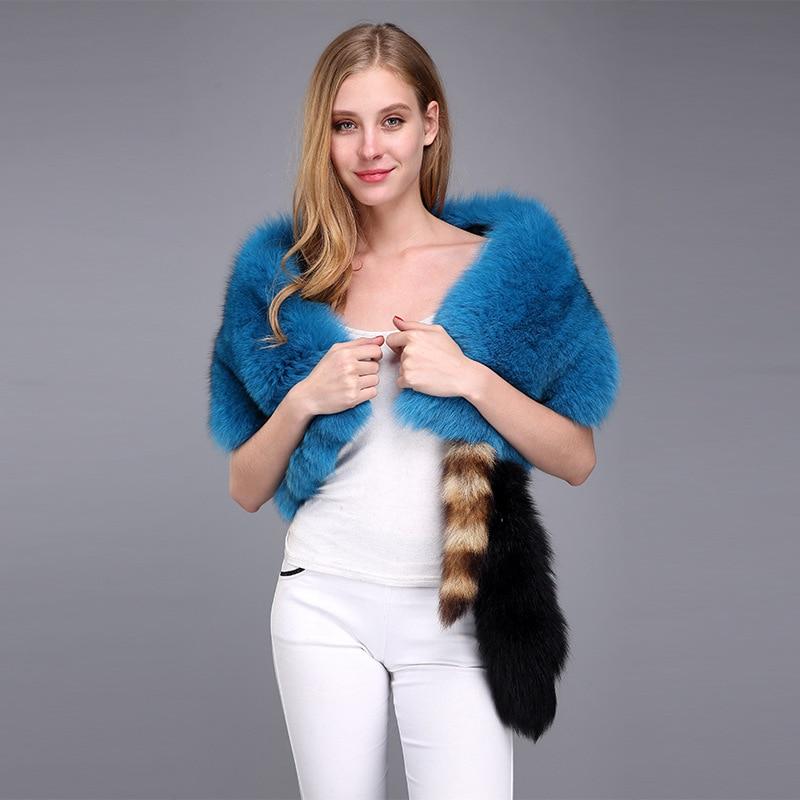 Лидер продаж 2019 натуральная Для женщин Лисий Мех украл шеи лисий мех шарф 100% натуральный мех лисы с воротником теплые шарфы CYK562121