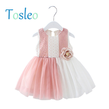 Baby Girl Dress Summer 2018 Infant Toddler Clothes 1 Year Bithday Party  Dress Children Clothes Pink 028c07f10579