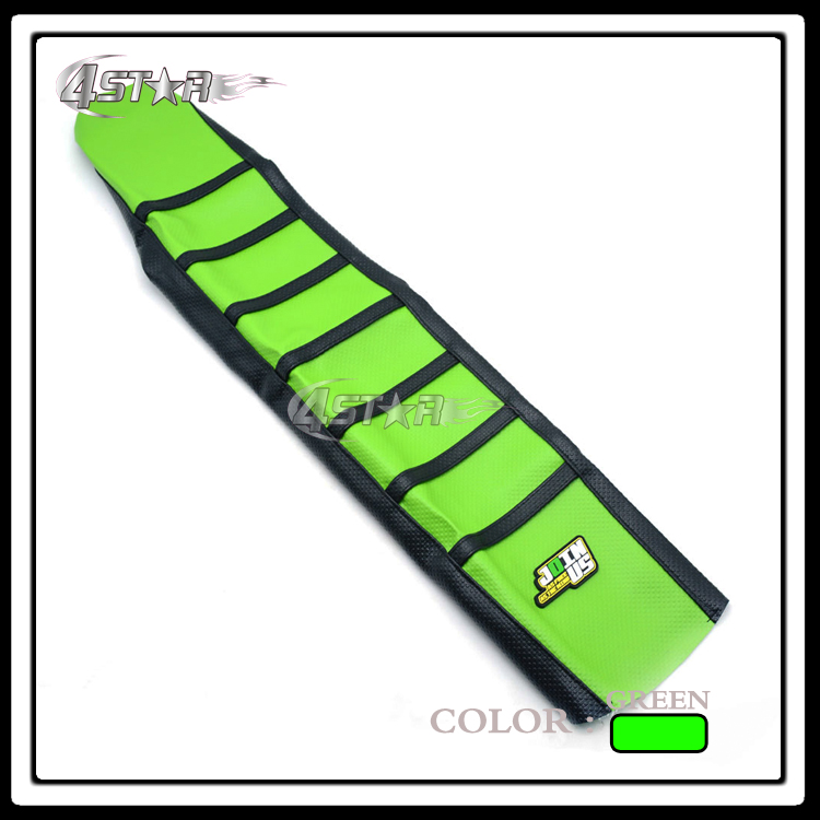 New Green And Black Rubber strip-type Motorcycle Gripper Soft Seat Cover For KXF KXF250 2013 2014 2015 2016 Dirt Bike