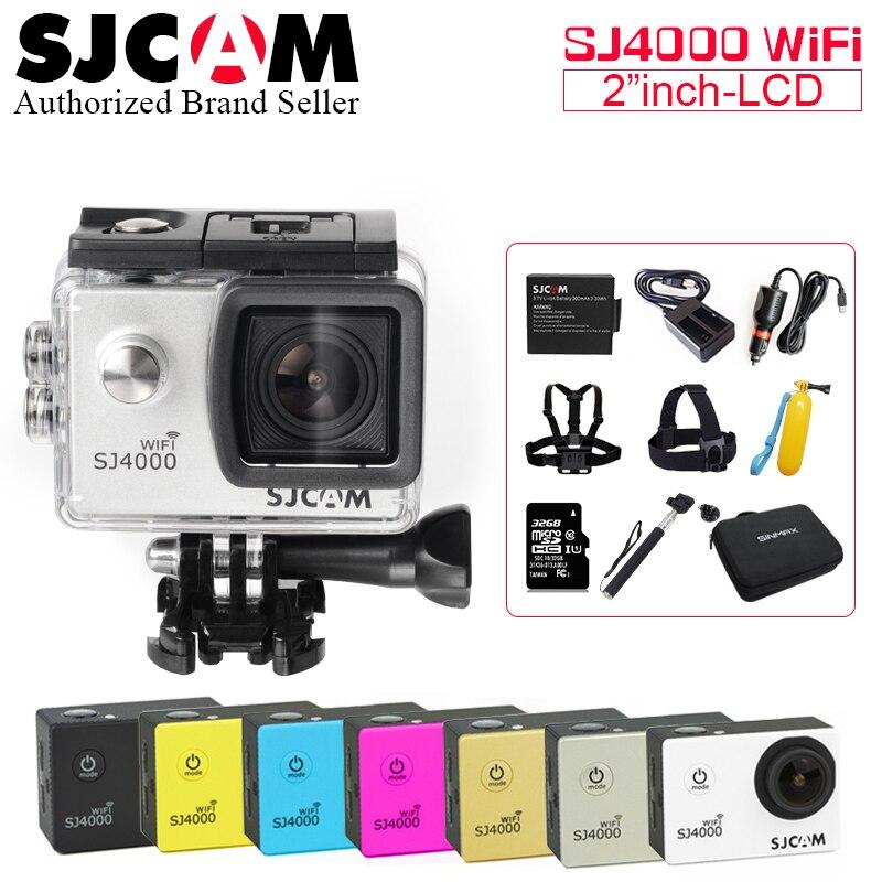 Action camera deportiva Original SJCAM SJ4000 WiFi Novatek 96655 WiFi 1080P HD go waterproof pro mini Camcorder SJ 4000 camera