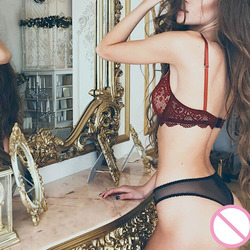Сексуальное женское кружевное нижнее белье, бюстгальтер + комплект, эротический комплект нижнего белья, бюстгальтер пуш-ап, комплект бюстга... 3