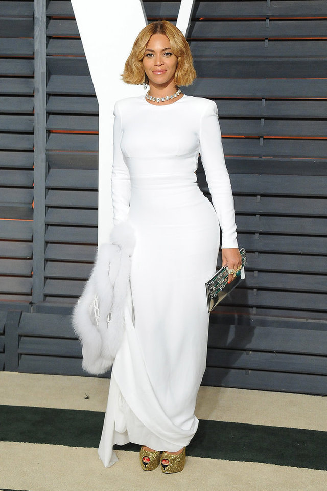 Beyonce Amazing White Long Sleeves Red Carpet Pageant Party Gown ...