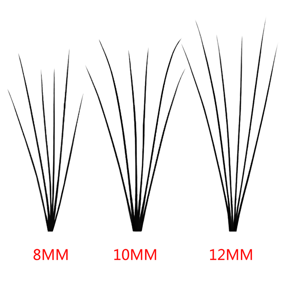 60Pcs 2/3/5/6 Individual Cluster Eyelashes Natural Curl Grafting False Eye Lash