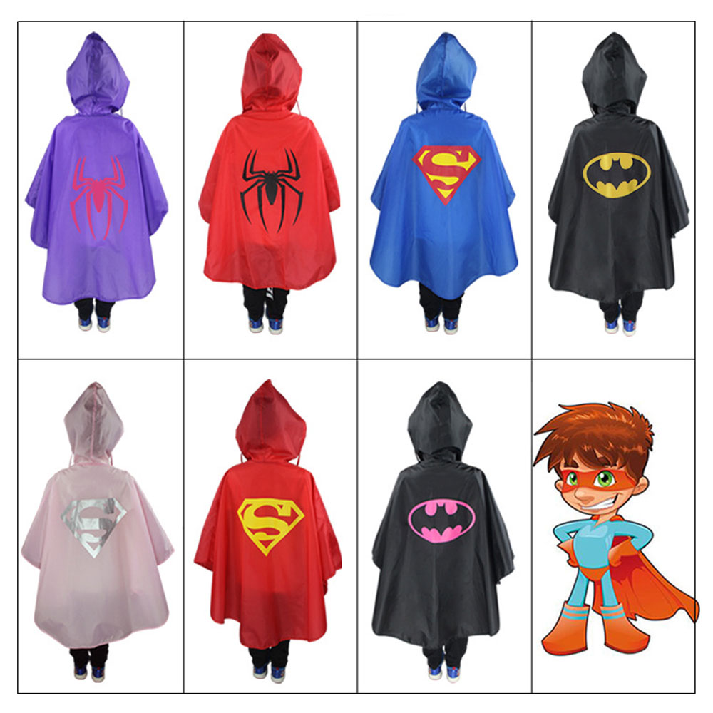 Kids Rain Coat Cartoon Rain Cost Children Cartoon Poncho Single-person Rainwear/Raincoat/Rainsuit Boys Girls Poncho