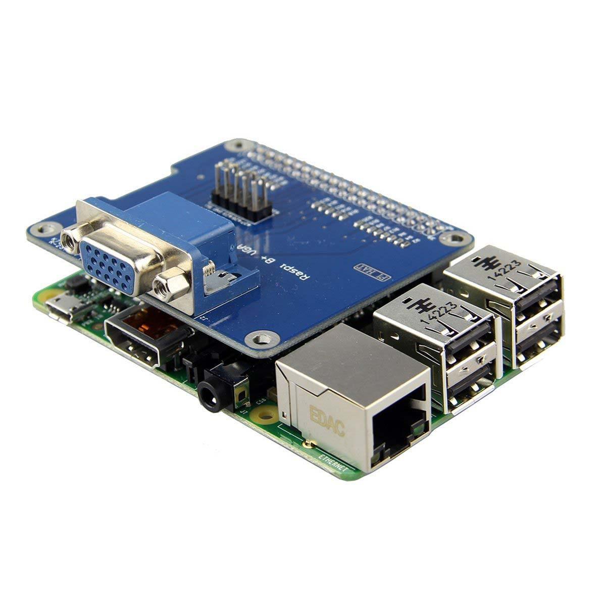 VGA щит V2.0 Плата расширения для Raspberry Pi 3B/2B/B +/A +/VGA щит v2.0 Плата расширения продлить интерфейсом VGA через GPIO ...