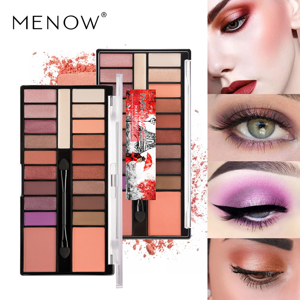 Eye Shadow 18 Colors Eyeshadow Beauty Glazed Glitter Eye Palette Maquiagem Matte Silky Maquiagem Profissional Completa Kit Pincel #68 New Varieties Are Introduced One After Another