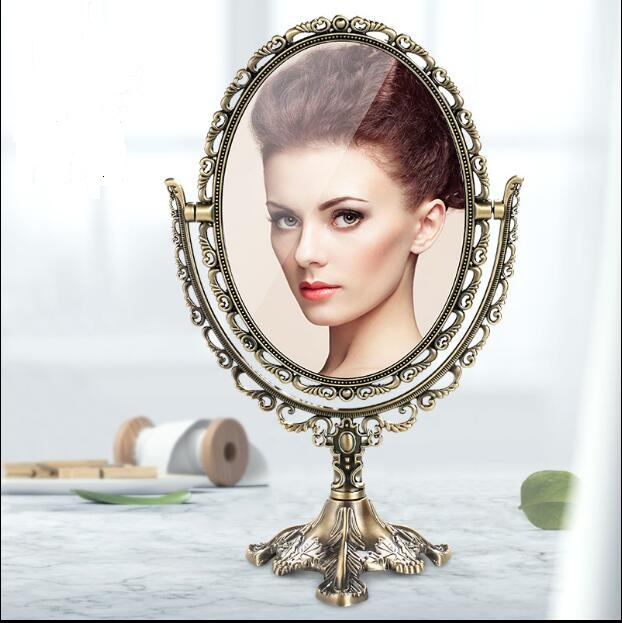 Retro 360 Degree Rotating Home Decoration Makeup Mirror Frame Decorative  Table Mirrors Wedding Decorative Home MirrorJ042
