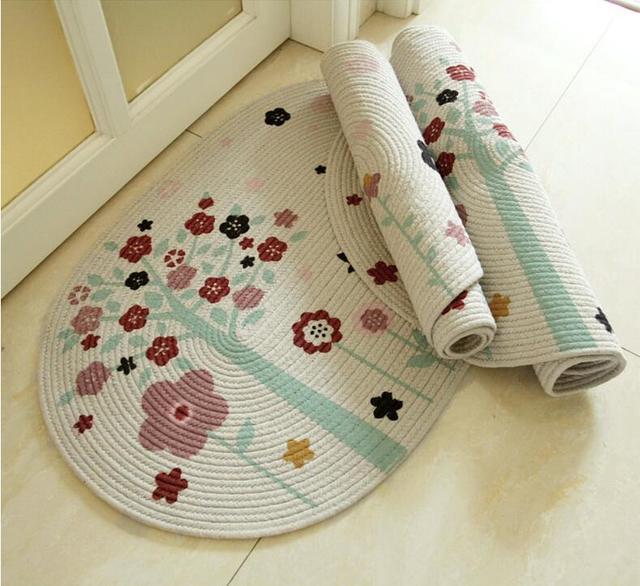 Wonderful Hot Sale Living Room Carpet Handmade Cotton Bedroom Rugs Entrance Carpet  Kitchen Bathroom Non Slip