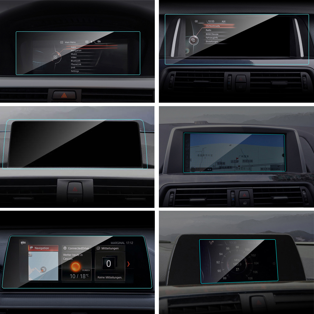Car GPS Navigation Screen Protector Film for BMW E90 F01 F02 F10 F11 F13 F18 F20 F21 F22 F23 F30 <font><b>F31</b></font> F32 F33 F34 F35 F45 G11 G12 image