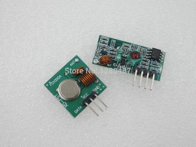HOT, 1Lot= 1 pair (2pcs) RF wireless receiver module & transmitter module Ordinary super- regeneration 315/433MHZ