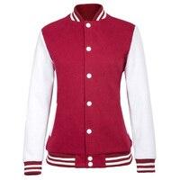 2017 Autumn Baseball Jacket Women Students Sweatshirt College Sportswear Jackets Coat K Pop Casual Solid Color