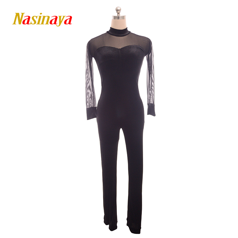 Nasinaya Figure Skating Leotard Jumpsuit For Girl <font><b>Kids</b></font> Women One Piece Customized Patinaje Ice Skating Costume <font><b>Gymnastics</b></font> 2 image