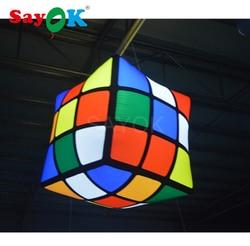 1 m (3.28ft) di Nuovo Disegno Led Cubo Gonfiabile/Gonfiabile Cubo Magico/Cubo Gonfiabile per Evento, pub, Partito, Decorazione del Soffitto
