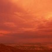 Storm clouds over mountains at sunset  South Mountain Park  Phoenix  Arizona  USA Poster Print (36 x 12)