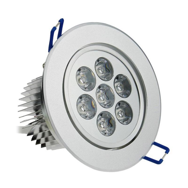 6 pcs 7W, 650Lumens, Warm White, 2800K, Led Spotlight Recessed Light Downlight
