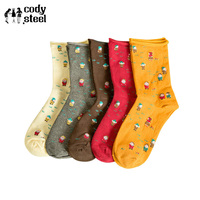 Cody Steel Women Winter Socks Fashion Christmas Dwarf Socks Cotton Ladies Casual Comfortable Women In Tube