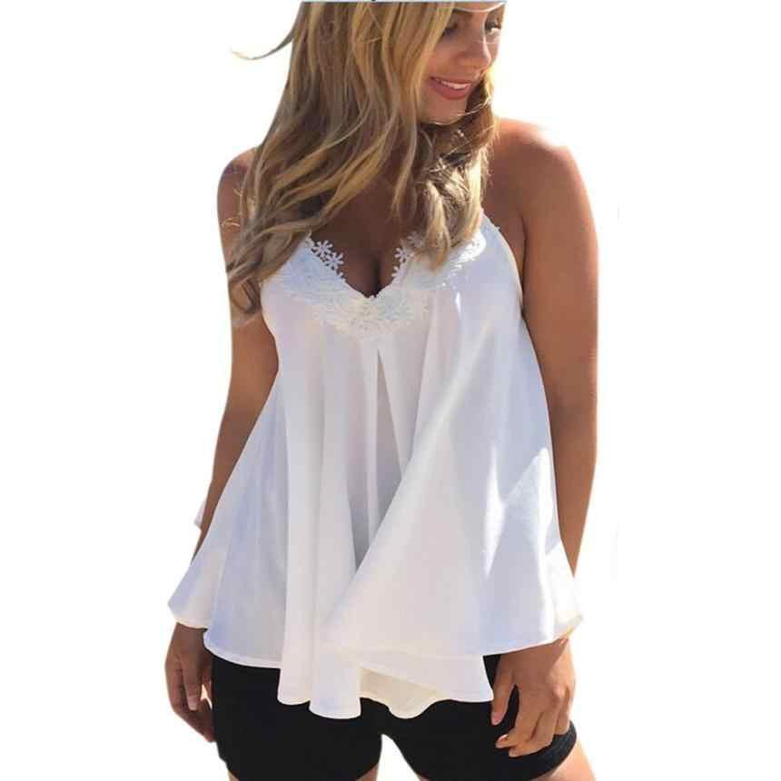 0e3a79a9aa8f9 Detail Feedback Questions about Women Sleeveless V Neck Chiffon Blouse  Summer Shirt Blusas Femeninas Solid Vest Tops Camisa De Chifon Feminina 5.9  on ...