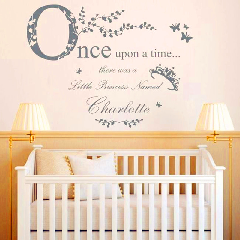 Once Upon A Time Princess   Vinyl Wall Stickers Home Decor Personalised Princess Name Decal Baby Bedroom Decoration Wall Art-in Wall Stickers from Home ...  sc 1 st  AliExpress.com & Once Upon A Time Princess