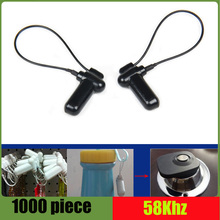Eas hard tag with lanyard for 58Khz AM eas anti theft system 1000 piece