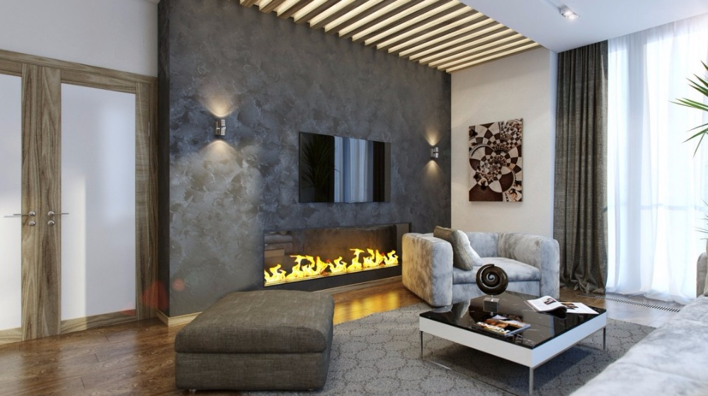 Inno Living 60 Inch  Remote Bioethanol Fire Kamin Fireplace