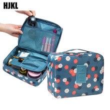цена на HJKL Multifunction travel Cosmetic Bag Toiletries Organizer Waterproof Female Storage Make up Cases Neceser Women Makeup Bags