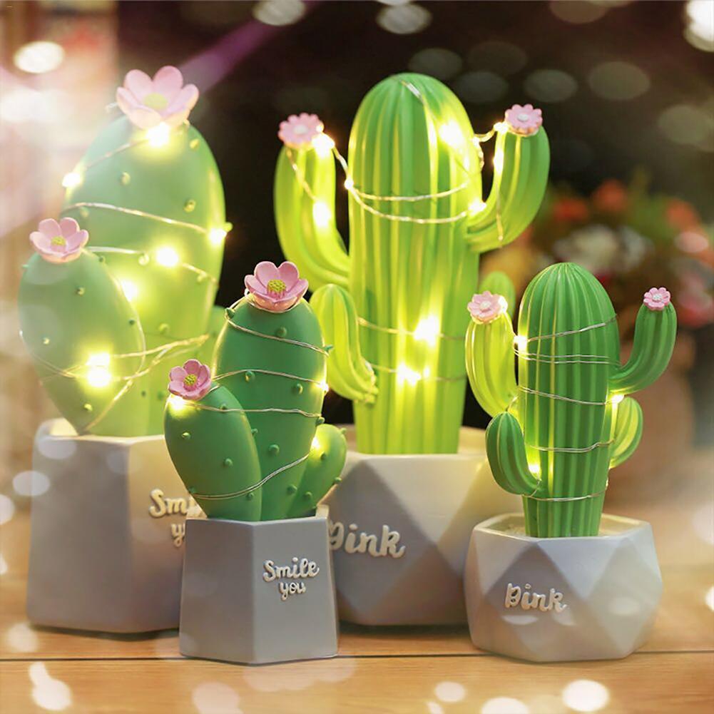 Dream Star  Night Light Ins Cactus LED Table Lamp  Lamp Bedroom Decoration Children's Gift
