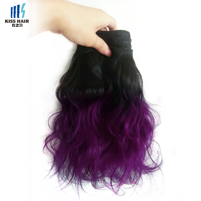 3 Bundles T 1b Purple Ombre Brazilian Hair 2 Tone Ombre Brazilian