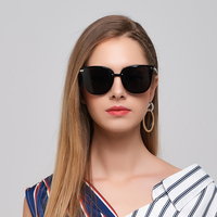 Donna Oversized Cat Eye Sunglasses Women Round Classic Polarized Frame Flat Night Vision Sun Woman Fashion