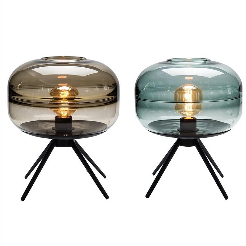 breve nordic criativo sala de estudo candeeiro de mesa de vidro italia designer deco led desk
