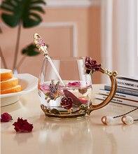 Enamels Rose Tea Mug Drinking Coffee Cup Glasses 11oz/320mL