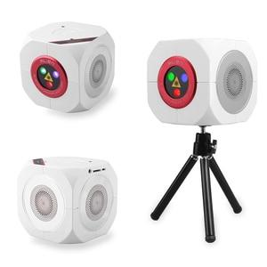 Image 4 - ALIEN RGB Oplaadbare Draadloze Bluetooth Speaker Laser Projector Podiumverlichting Effect Voor Party Outdoor DJ Disco Vakantie Xmas