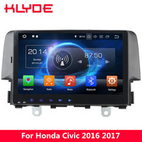 KLYDE 10.1 4G WIFI Android 8.0 7.1 Octa Core 4GB RAM 32GB ROM Car DVD Player GPS Navigation Glonass For Honda Civic 2016 2017