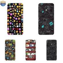 Case de Celular Meizu m1 m2 m3 note meilan e m2 m3 Mini MX4 Pro MX5 MX6 Shell Pro 5 6 Metal TPU Emoji