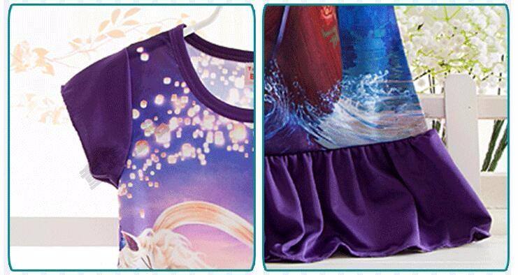 Anna Elsa Girls Dress Snow Queen Princess Dresses for Girls Night Gown Pajamas Baby Dress Kids Sleepwear Pyjamas Clothes 19