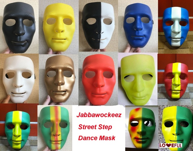 New Hiphop Mask Mime Mask The Purge Robot Dance Crew Halloween