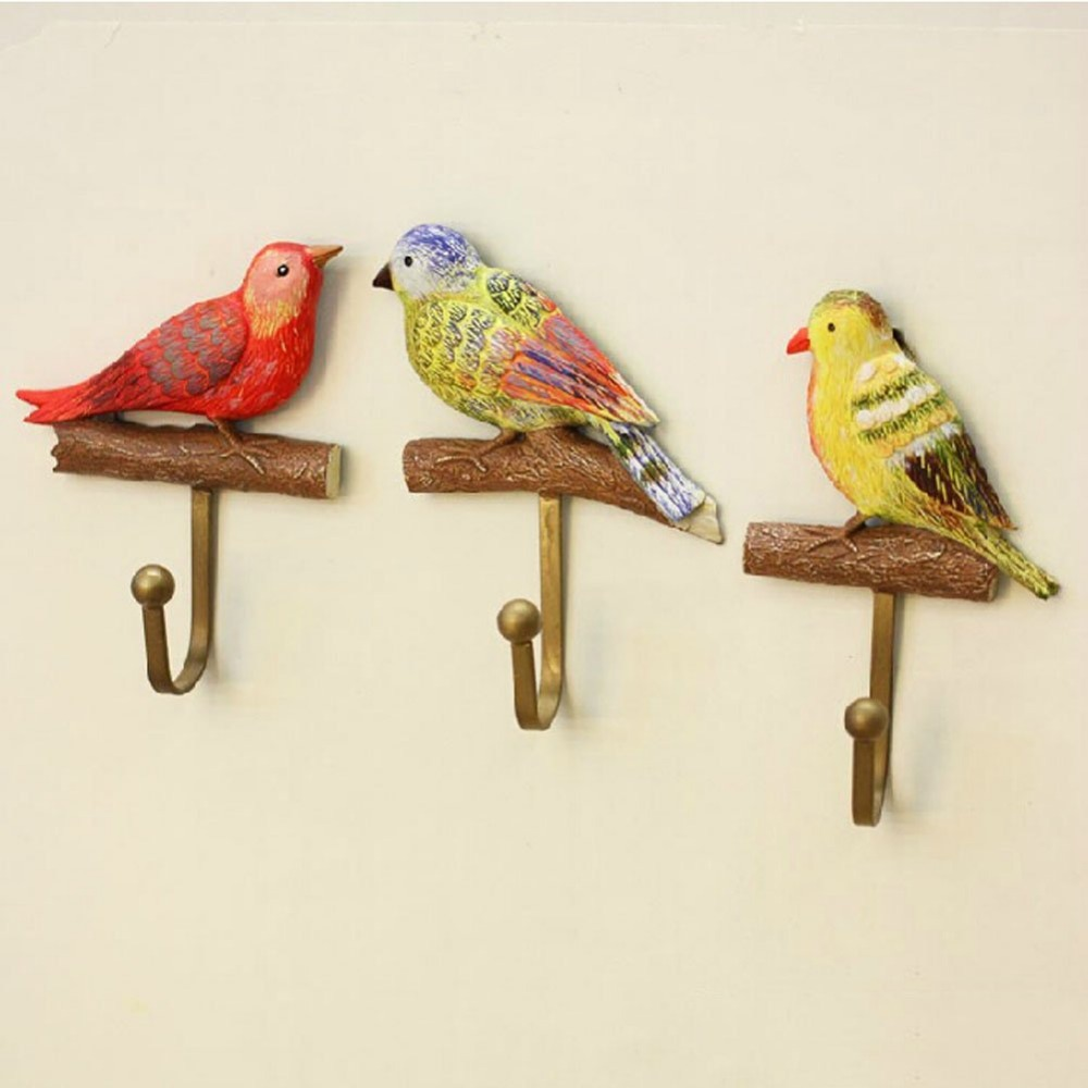High Load Bearing Creative Hook Bird Design Resin Coat