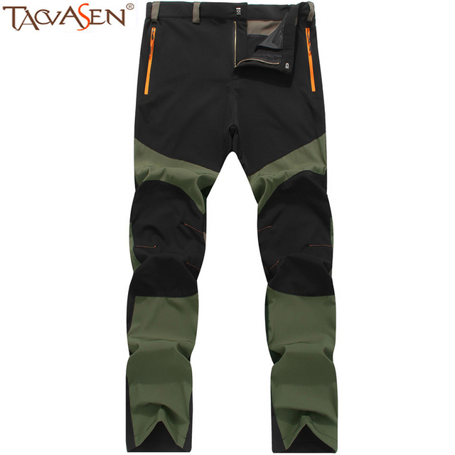 TACVASEN Pants Men Hiking Trousers Quick Dry Outdoor Waterproof Summer Camping Climbing Fishing Clothes