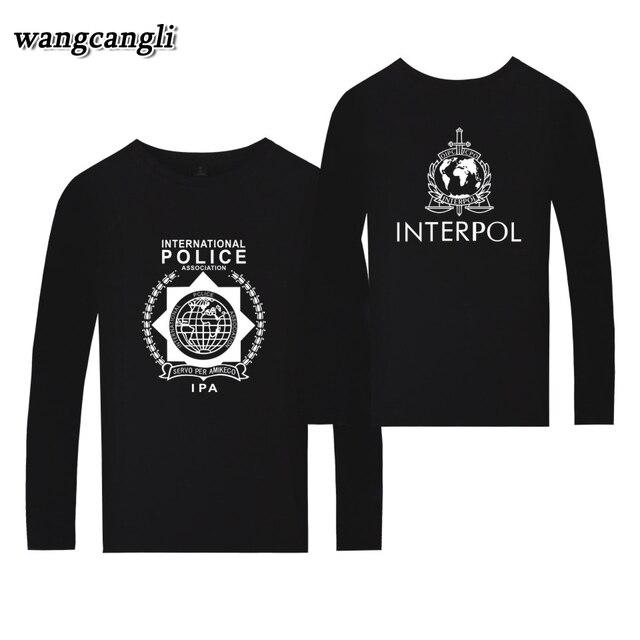 A INTERPOL Banda Punk T-shirt Harajuku Verão T camisa de Manga Longa Homens  Casual 66699fa960b