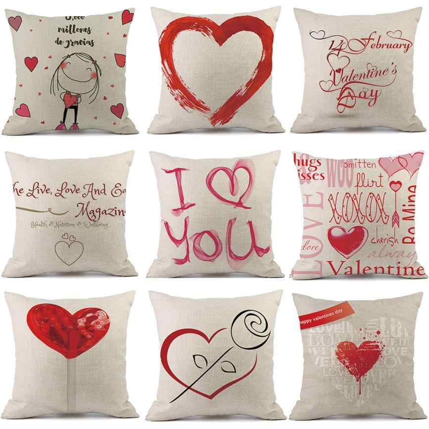 Happy valentines day pillowcase red