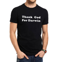 Mens Thank God For Darwin Evolution Science Funny T Shirts Men Tee
