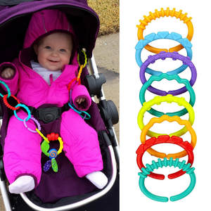 Baby Rainbow Toys Ring-Links Kids Children Gym ABS 24pcs 998 Play-Mat Infant-Stroller