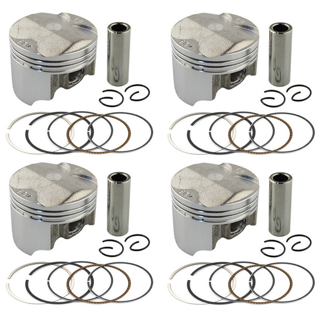 Мотоцикл Частей Двигателя STD Размер Диаметр Цилиндра 55 мм Поршни и Кольца комплект Для Honda CB400 VTEC/CB 400 CB-1 CB400SF NC31 NC36