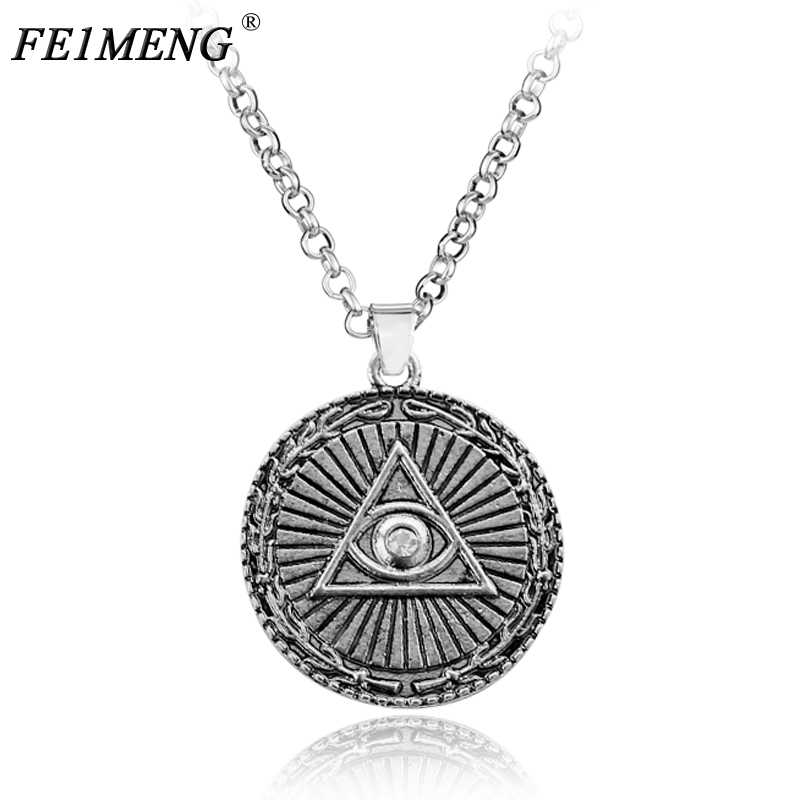 Illuminati Masonic Mason Free Satanism Necklace doctor who vintage Steampunk Pendant Necklaces For Women Men  Sweater Choker