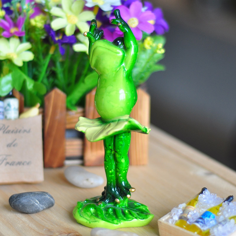Resin Garden Feng Shui Money Frog For Decor