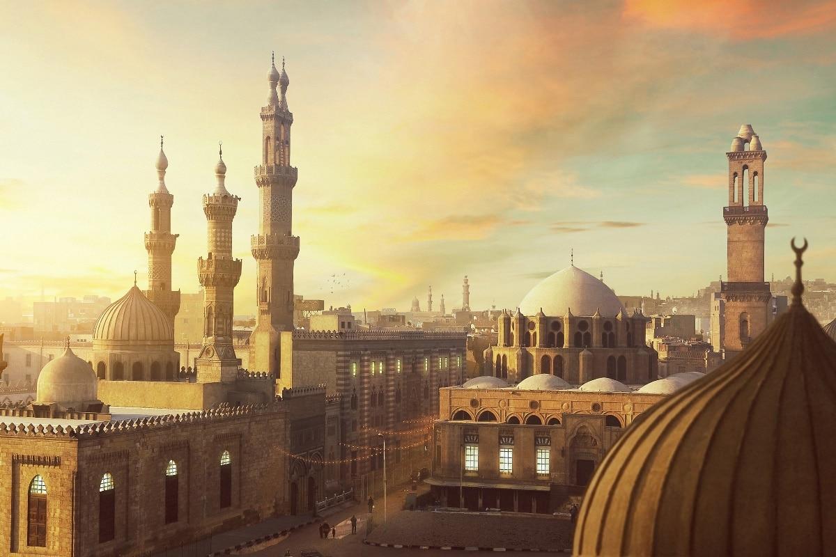 egypt ramadan region fantasy city landscape living room home wall ...