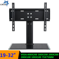 Table Top LCD TV Floor Stand TV Table Mount Desk Display Base Monitor Bracket Holder Stable For Most 19 32 Inch Flat Screen TV