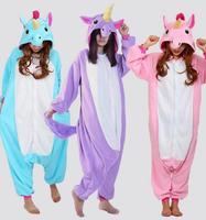 Adult Pink Blue Purple Unicorn Tenma Fleece Pajamas Animal Cosplay Costume Men Women Unisex Onesie Sleepwear