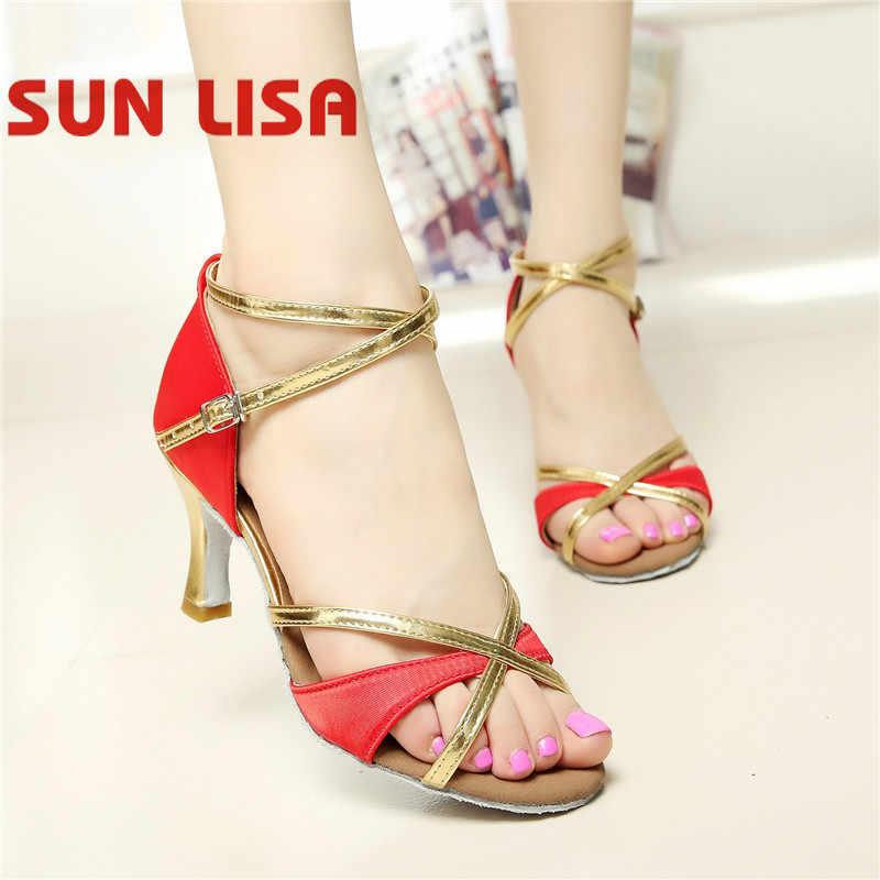 SUN LISA Wunderschöne frauen der Dame Tanzen Schuhe Mit High Heels Tango Ballsaal Salsa Latin Dance Schuhe