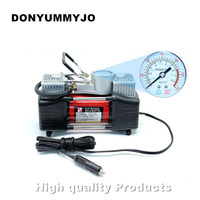 Portable 12v Air Compressor Car Tyre Inflator Double Cylinder Metal Car Tire Inflator High Pressure Air Pump Cigarette Lighter